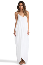 Nala Lined Simple Flow Maxi in White