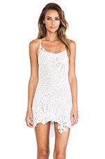 Sloan Web Cocktail Dress in White