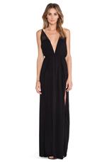X REVOLVE Isla Maxi Dress in Black & Crochet