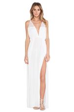 X REVOLVE Isla Maxi Dress in White & Crochet
