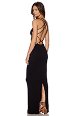 Tamaa Maxi Dress in Black