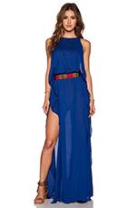 Twiga Open Side Maxi Dress in Blue