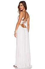 Zera Ruffle Bottom Maxi Dress in White
