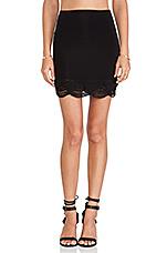 Siren Lampshade Mini Skirt in Black