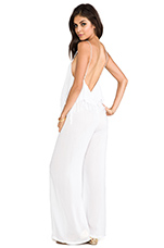 Tenno Fringe Flounce Jumpsuit in White