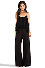 Tenno Fringe Flounce Jumpsuit in Black