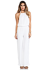 Tang Open Back Jumpsuit in White