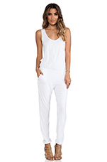 Lagoon Tank Jumpsuit in White