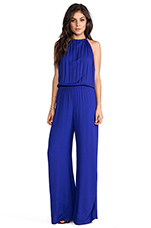 Tang Open Back Jumpsuit in Violet