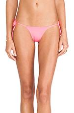Collins Reversible Bikini Bottom in Neon Pink, Cobalt & Neon Pink