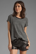 Harvey Ringer Tee in Anthracite