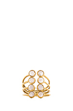 Eight Gem Open Ring in Gold