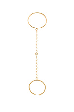 1cz Smooth Slave Chain Ring in Gold