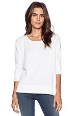 Classic Long Sleeve Raglan Sweatshirt in White