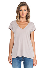 High Gauge Jersey Deep V Tee in Fossil