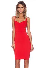 Lauda Cut Out Sheath Dress in Red