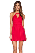 Vasser Backless Dress in Red