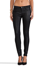Midrise Legging in Coated Black