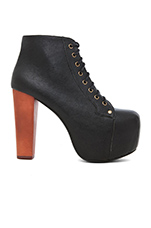 Lita Platform Lace Up Boot in Black
