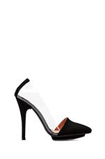 x REVOLVE Supermodel Heel in Black Suede