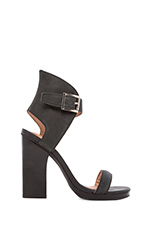 Shindig Heel in Black Washed Leather