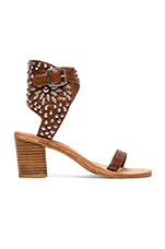 Des Moines Sandal in Tan & Silver
