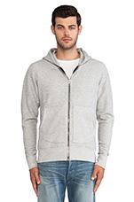 Flash Full Zip Hoodie in Grey