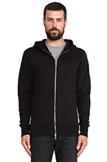 Flash Full Zip Hoodie in Black