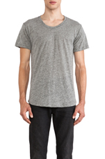 Curve U-Neck Tee in Grey