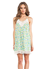 Maple Mini Dress in Pastel Water Color