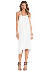 Zinnia Drape Dress in White