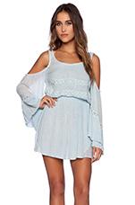 Baudelaire Mini Dress in Light Sky Blue