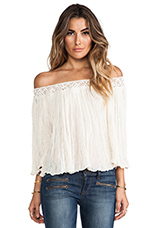Off the Shoulder Top in Natural