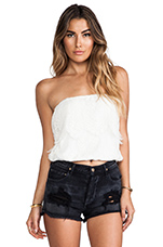 Ethereal Cha Cha Tube Top in White Sand