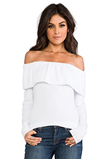 Donna Rollover Top in White