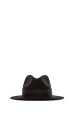 Fedora Wool Felt Hat in Black
