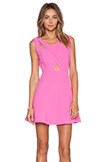Fit and Flare Dress in Fuchsia Pink