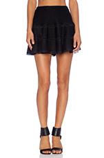 Mesh Mini Skirt in Black