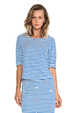 Embellished Top in Blue Striped