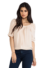 Eleanor Matte Silk Top in Dusty Pink