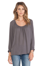 Jodelina Blouse in Charcoal