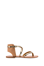 Casis Sandal in Platinum/Natural