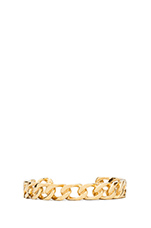 Large Curb Link Bangle in Gold