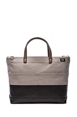Dipped Industrial Canvas Carpenter Bag in Grey/Black