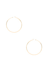 Olivia Hoop Earrings in Yellow