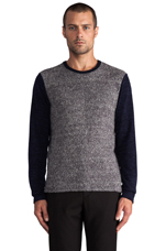 Colorblock Pullover in Navy