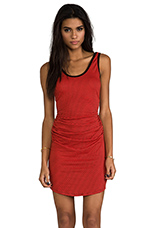 Henley Dress in Cherry Red