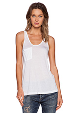 Classic Pocket Tank in White