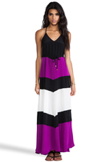 EXCLUSIVE St. Barths Combo Maxi Dress in Purple