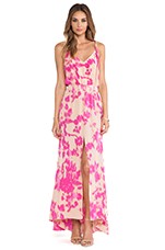 Jamaica Print Maxi Dress in Almond Flower